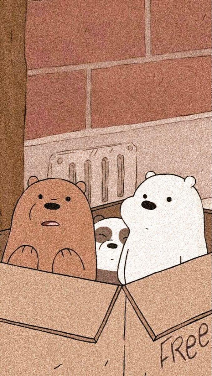 Pin By Elizza On الدببه الثلاثهbaer Bear Wallpaper Cute Cartoon Wallpapers We Bare Bears Wallpapers