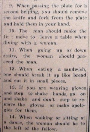 proper table setting rules in a relationship