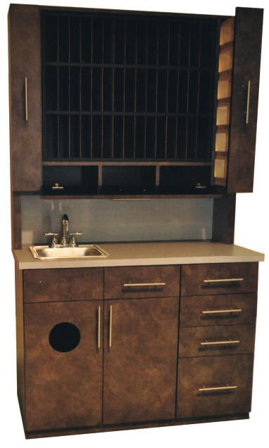 New hair coloring center bar is a great value with many sink, storage, garbage, many slots for hair color