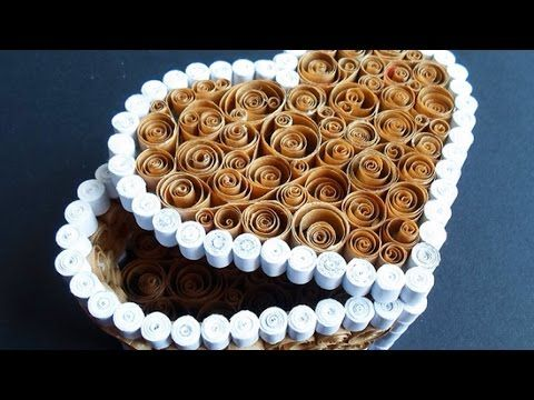How To Make a Beautiful Quilled Heart Box - DIY Home Tutorial - Guidecentral - YouTube