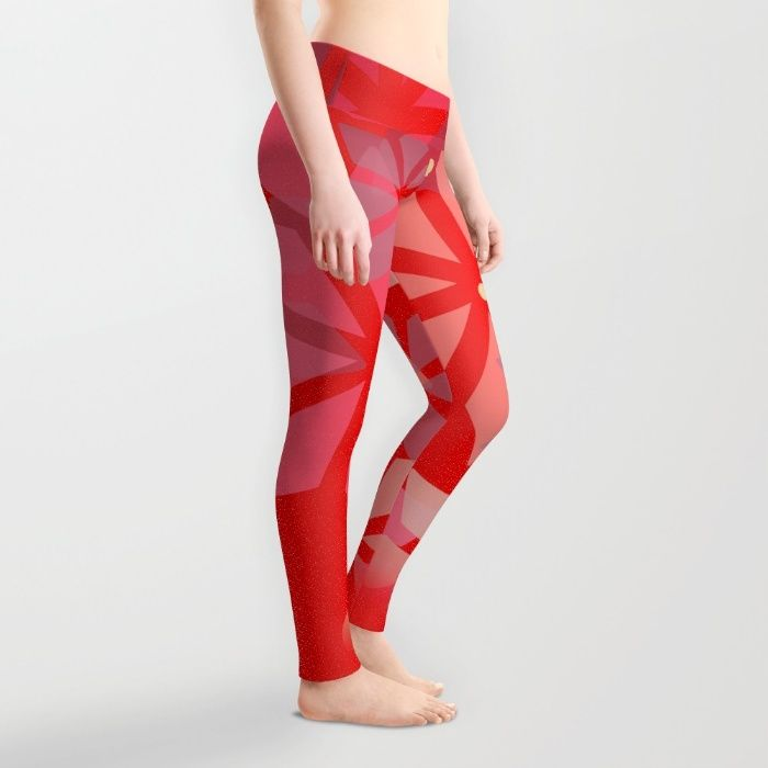 Poinsettia Pattern Leggings by Mirimo | Society6