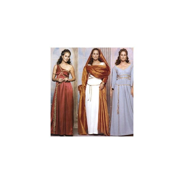 Mccall S 3514 Greek Roman Gown Toga Costume Sewing Pattern
