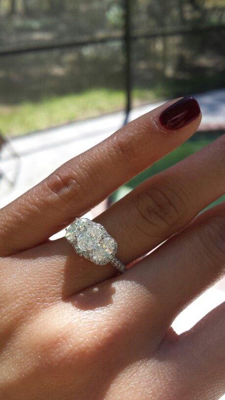 Neil Lane oval 3 stone engagement ring