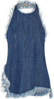 Pin for Later: So gut sahen abgeschnittene Jeans noch nie aus  Marques Almeida Neckholder-Oberteil aus ausgefranstem Denim (275 €)