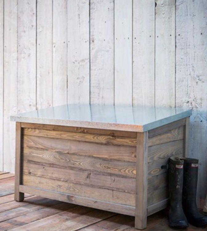 Garden Trading - garden storage box with zinc lid