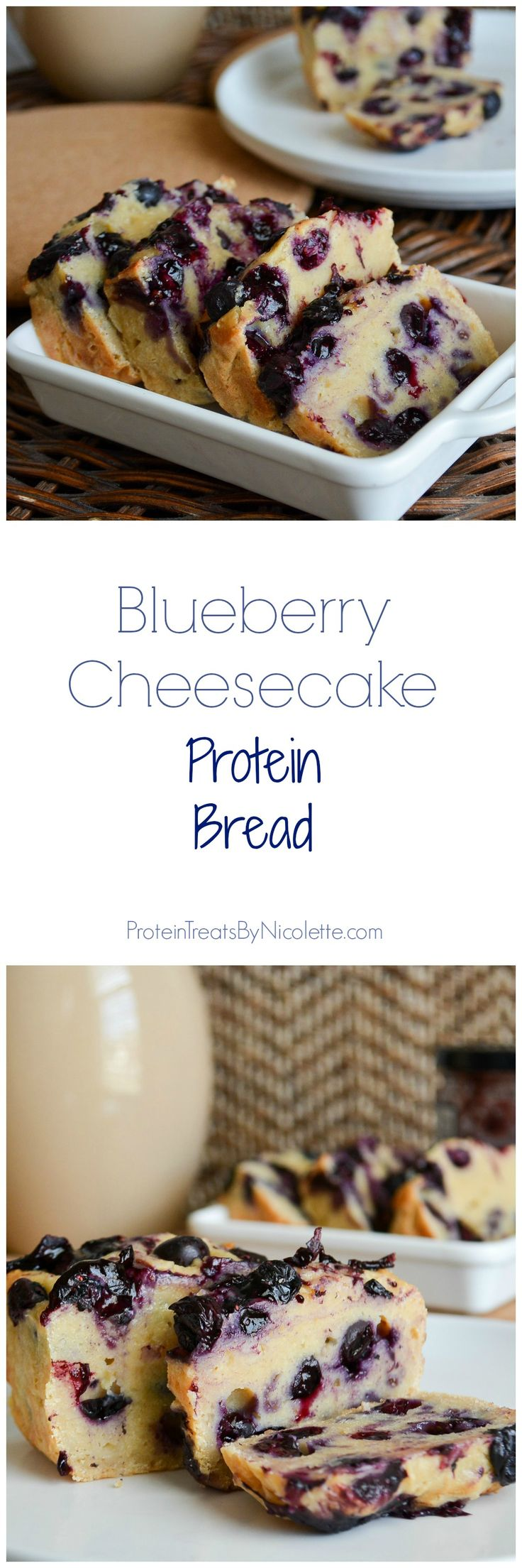 Blueberry Cheesecake Protein Bread #cleaneating #healthy #protein (Clean Eating Low Carb Breakfast)