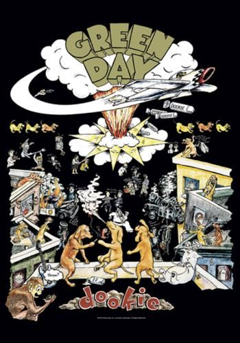 "Bandiera ""Dookie"" dei #GreenDay. Dimensioni: 75 x 110 cm."