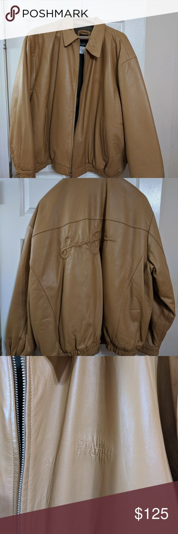 Like new men's Sean Jean leather coat Handsome men's winter coat. Practically brand new. Size 5X but runs smaller. Logo on front and back. No rips, non smoking household. Sean John Jackets & Coats Puffers