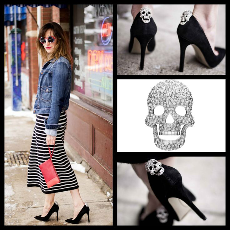 ShoeTease blog features Shoelery by Erica Giuliani Diamond Skull Shoe Clip. Find this shoe clip for $29.99 at Shoelerybyeg.com.