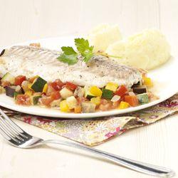 Ovengebakken kabeljauw en ratatouille #vis
