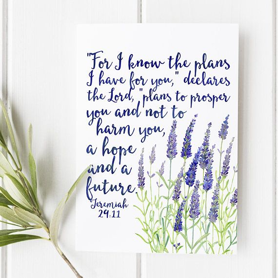 Jeremiah 29:11 For I know the plans I have for you   Etsy in 2021   Bible verse prints, Bible verse wall art, I know  the plans