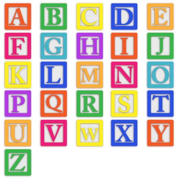 Baby Blokken, Alfabet, Abc, Brieven, Kleurrijke, Blok