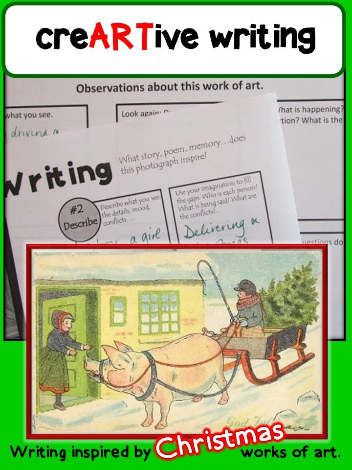 18 best focus on writing images on pinterest art lessons art picture prompts creative writing with christmas prompts fandeluxe Image collections