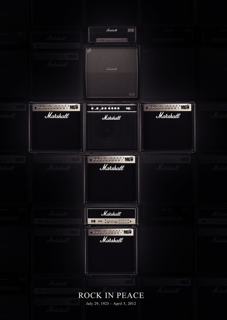 "DIGITAL PRINT: MARSHALL TRIBUTE ""ROCK IN PEACE"" on Behance"