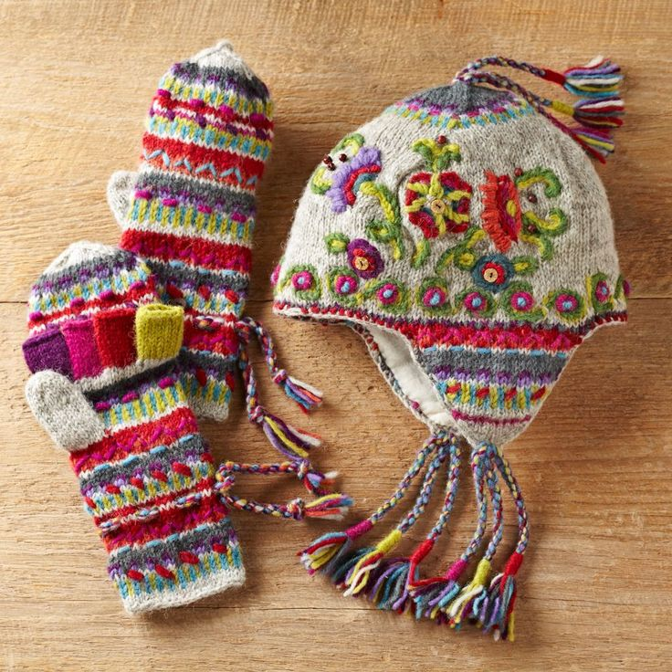 Kamala Earflap Hat and Convertible Mittens