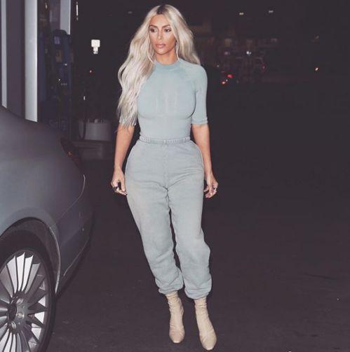 Kim Kardashian en Yeezy Season 6