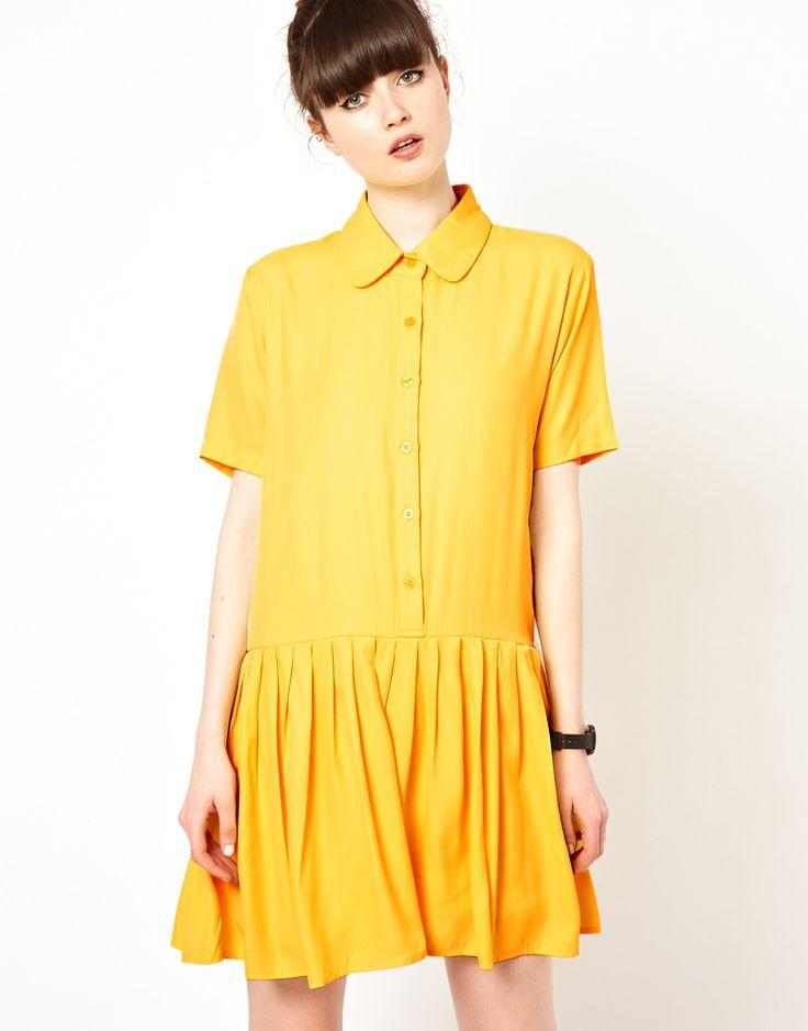 The WhitePepper Drop Waist Shirt Dress