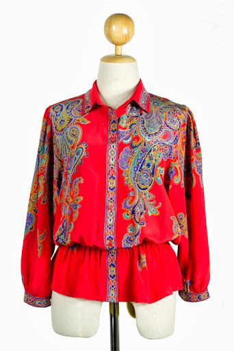 revamped 60's blouse