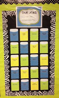 This is a classroom jobs chart but the same idea could be used to create a place for people to leave one another notes of encouragement at retreat.