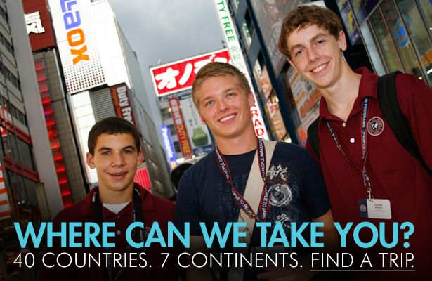 International educational travel programs on all seven continents for students in grades 5–12 and college. Learn more: http://www.peopletopeople.com/