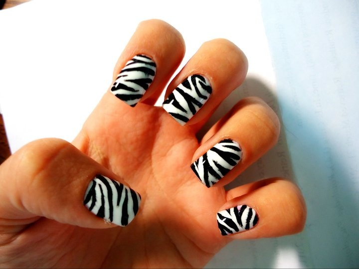 46 best nails images on pinterest make up my style and hairstyle hand painted zebra design my favourite design i have painted so far nail art done by me prinsesfo Images