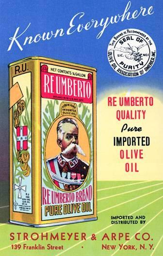 Vintage olive oil ad. #vintage