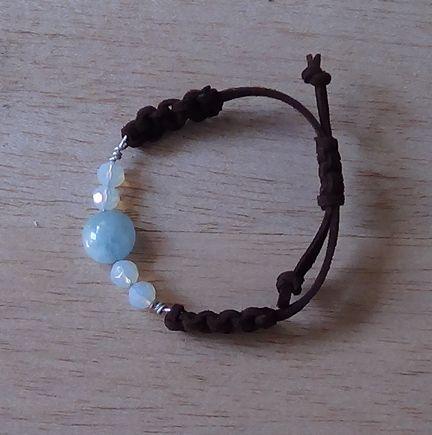 Aqua marine and opal bracelet