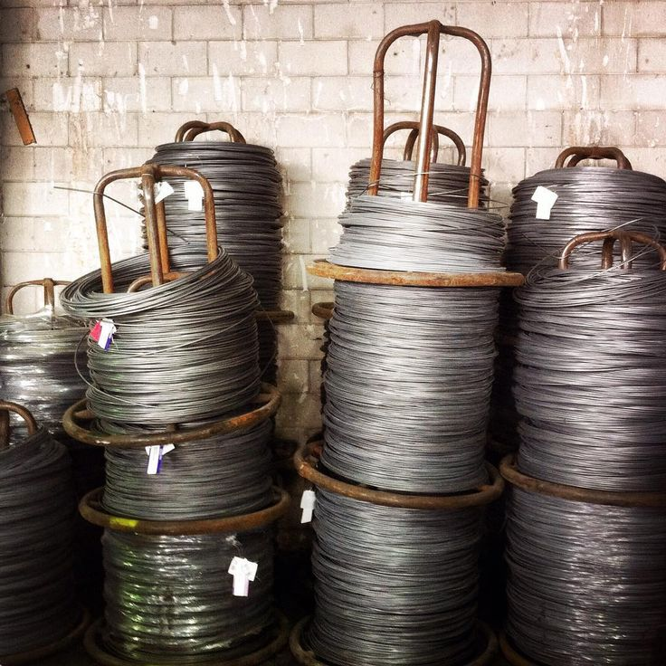 Always feels so happy in a factory. Massive tools! Raw materials! Huge workspaces! #RawMaterials #InTheFactory #Wire #WireReels