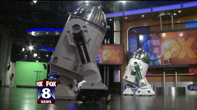 CLEVELAND -- Some blinking, beeping guests made an appearance on Fox 8 News in the Morning Monday. Members of the R2-D2 Builders Club showcased their creations! There are more than 12,000 Star Wars...