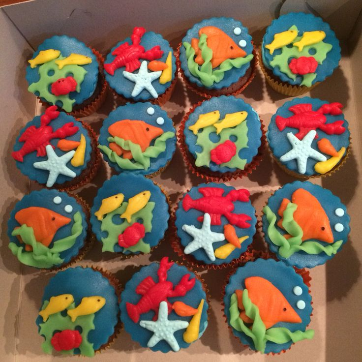 Vissen cupcakes