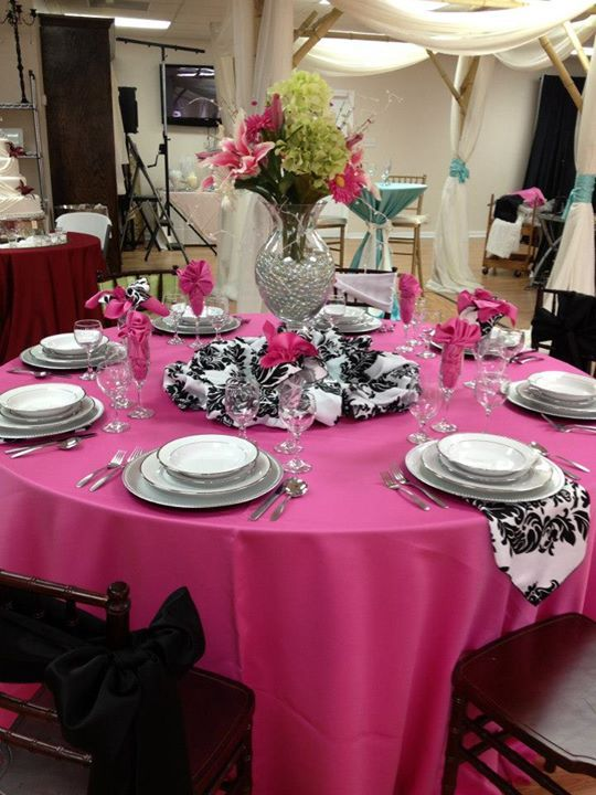 Bright, Vibrant and Bold! At Apex, we have a vast variety of colors and patterns to accommodate even the most daring bride!   Check out our variety of linens and accessories at www.apexgulfport.com #ApexGulfport