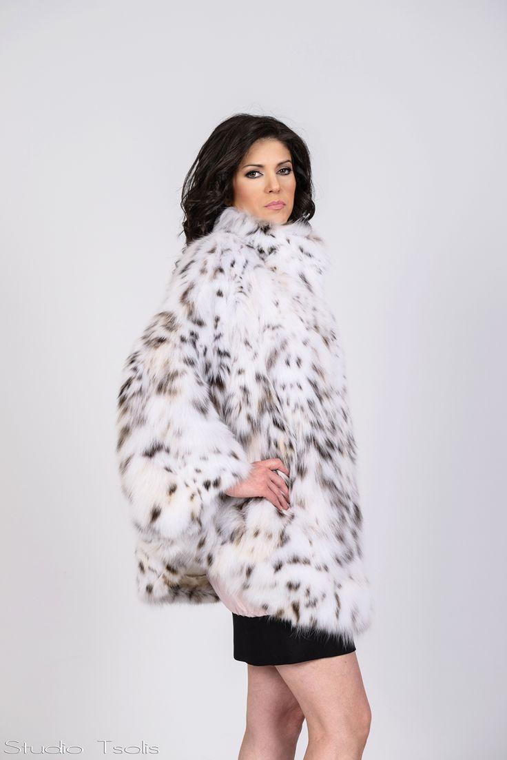 Lynx cat fur jacket: Timeless glamour.