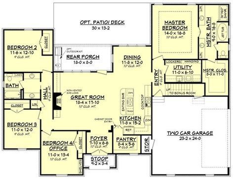 The 25+ best Four bedroom house plans ideas on Pinterest | One ...