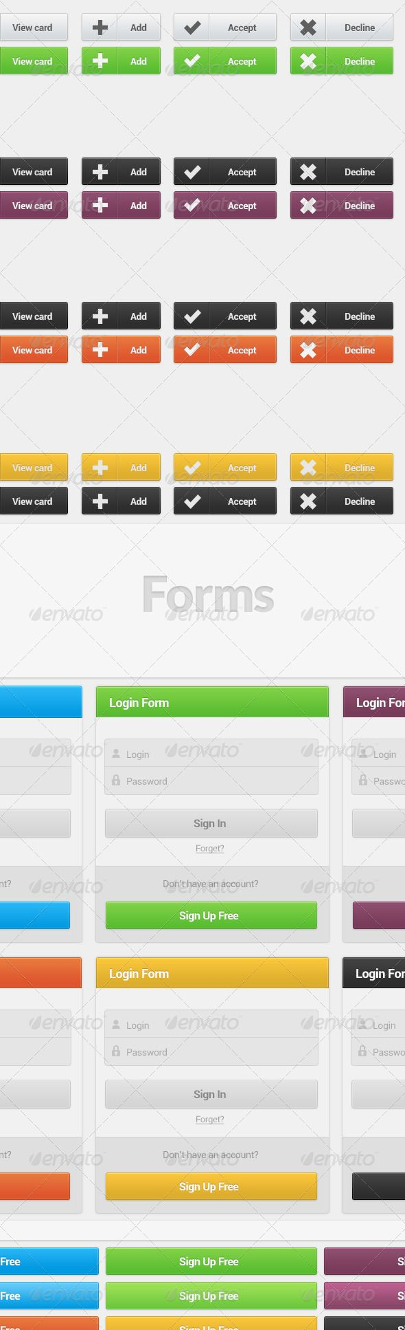 Sleek Buttons and Forms