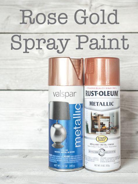 Rose gold spray paint review. Valspar and Rustoleum.