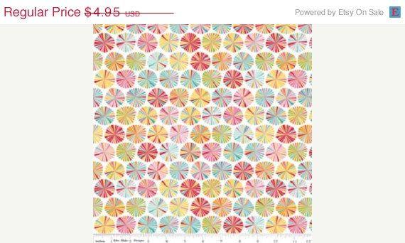 ON SALE Fancy Pinwheels  Multi by Riley Blake by OakHillFabrics
