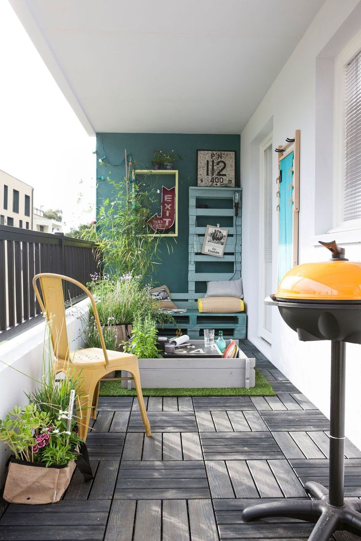17 mejores ideas sobre patios exteriores en pinterest for Decoracion balcones pequenos