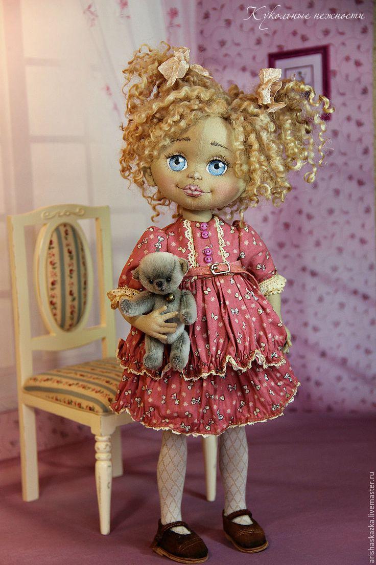 Купить Бетти . Кукла авторская текстильная Кукла ручной работы - белый, девочка