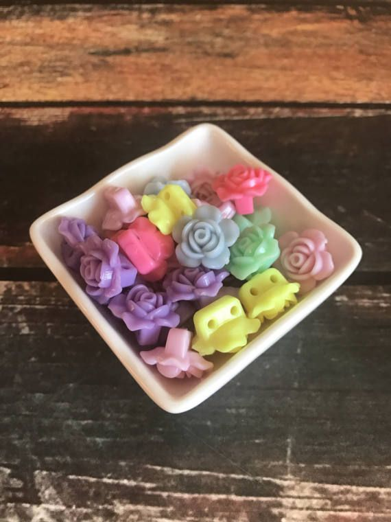 Chunky resin rose flower bead - mixed lot - acrylic flower - Gumball Necklace - Wholesale Chunky beads - DIY chunky necklace