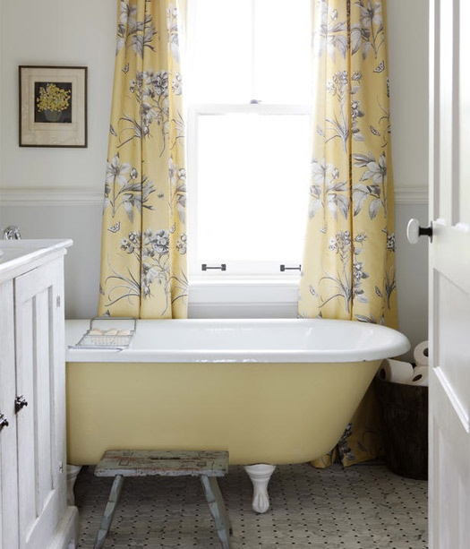 Yellow Clawfoot Tub Bathroom Ideas Pinterest