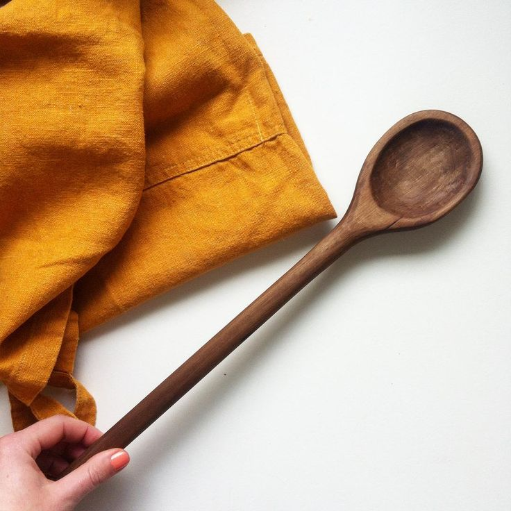 Made for each other ❤️ wooden spoon and turmeric apron