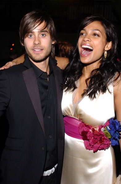 Jared and Rosario Dawson at the after party for the premiere of 'Alexander' held at the Hollywood Roosevelt Hotel on November 16, 2004 in Hollywood, California.