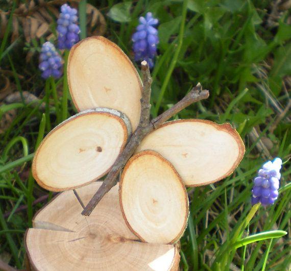 Wedding Butterflies Decorations Wooden Butterflies Spring Butterflies- set of 6