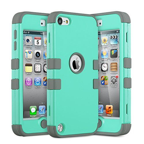 ULAK iPod Touch 5 Case,iPod Touch 6 Case,Hybrid 3 Layer Hard Case Cover with Silicone Shell Case for Apple iPod Touch Generation 5 6th (Aqua Mint/Grey) ULAK http://www.amazon.com/dp/B00YOF1T02/ref=cm_sw_r_pi_dp_IBDbwb1FM4XEB