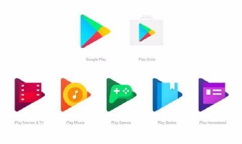 Νέος σχεδιασμός για τα εικονίδια του Google Play και των υπο-εφαρμογών του.
