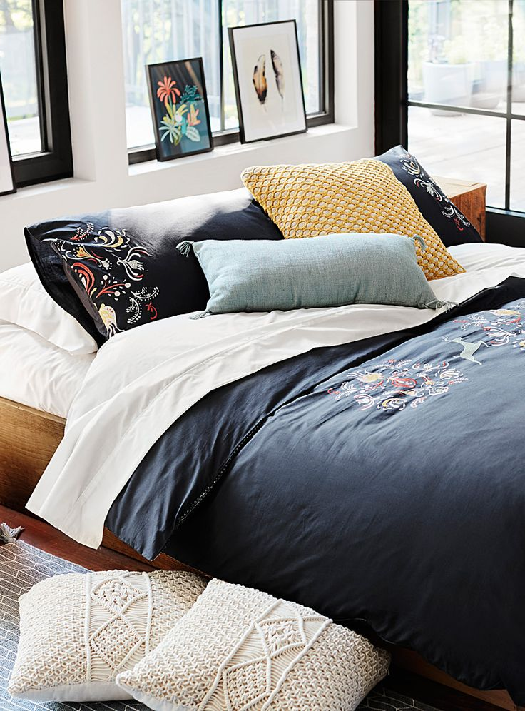 otomi embroidery duvet cover set