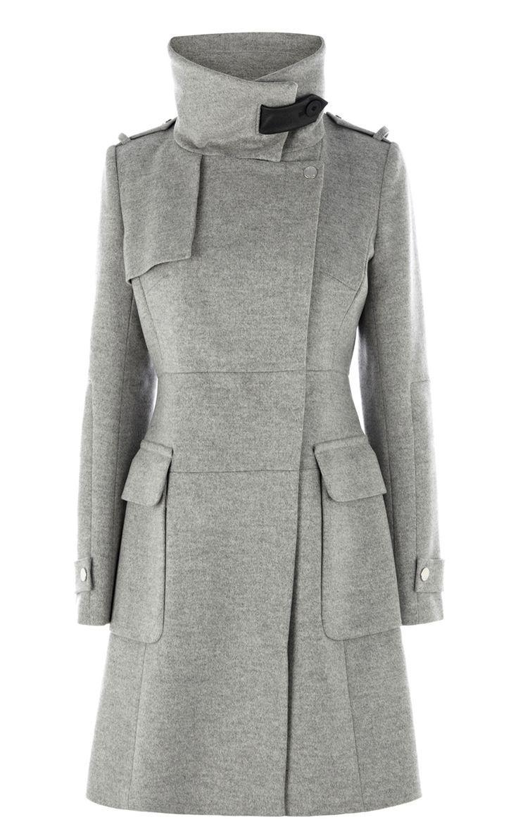 KAREN MILLEN WINTER Coat / jacket Size 10 (38) - EUR 11, Elegant, warm, winder jacket by Karen Millen. Size 10UK or 38EU. Black with silver zip and buttons. It's been worn but in a very good condition. Please note it comes as you can see it; without a belt. Feel free to ask any questions and check my other items for sale Item will be post.