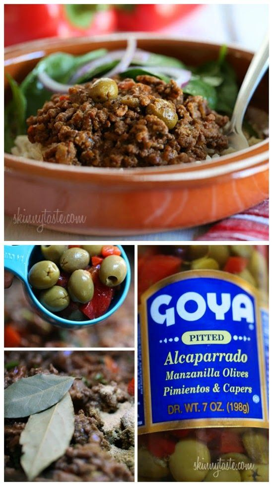Slow Cooker Picadillo from Skinnytaste; this sounds delicious served over rice, or use cauliflower rice or eat in lettuce wraps for a low-carb option. [Featured on SlowCookerFromScratch.com]: