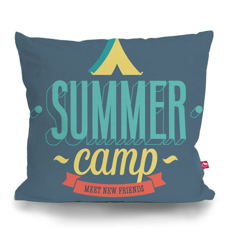 Cushion Cover SUMMER CAMP by Sticky!!!