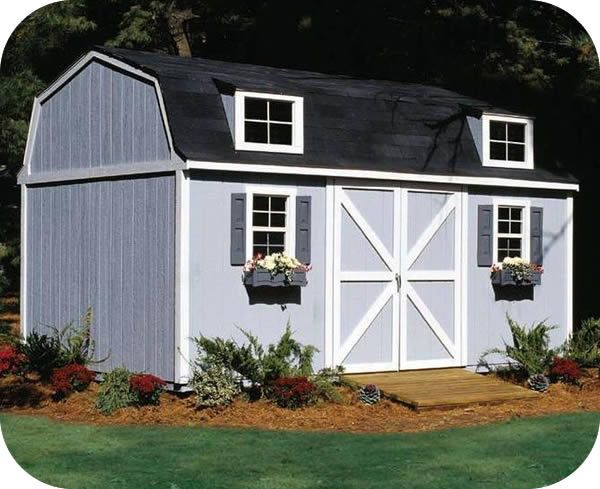 Handy Home Berkley 10x16 Wood Storage Shed Kit 18514 4 Wood Storage Sheds Storage Shed Kits Shed